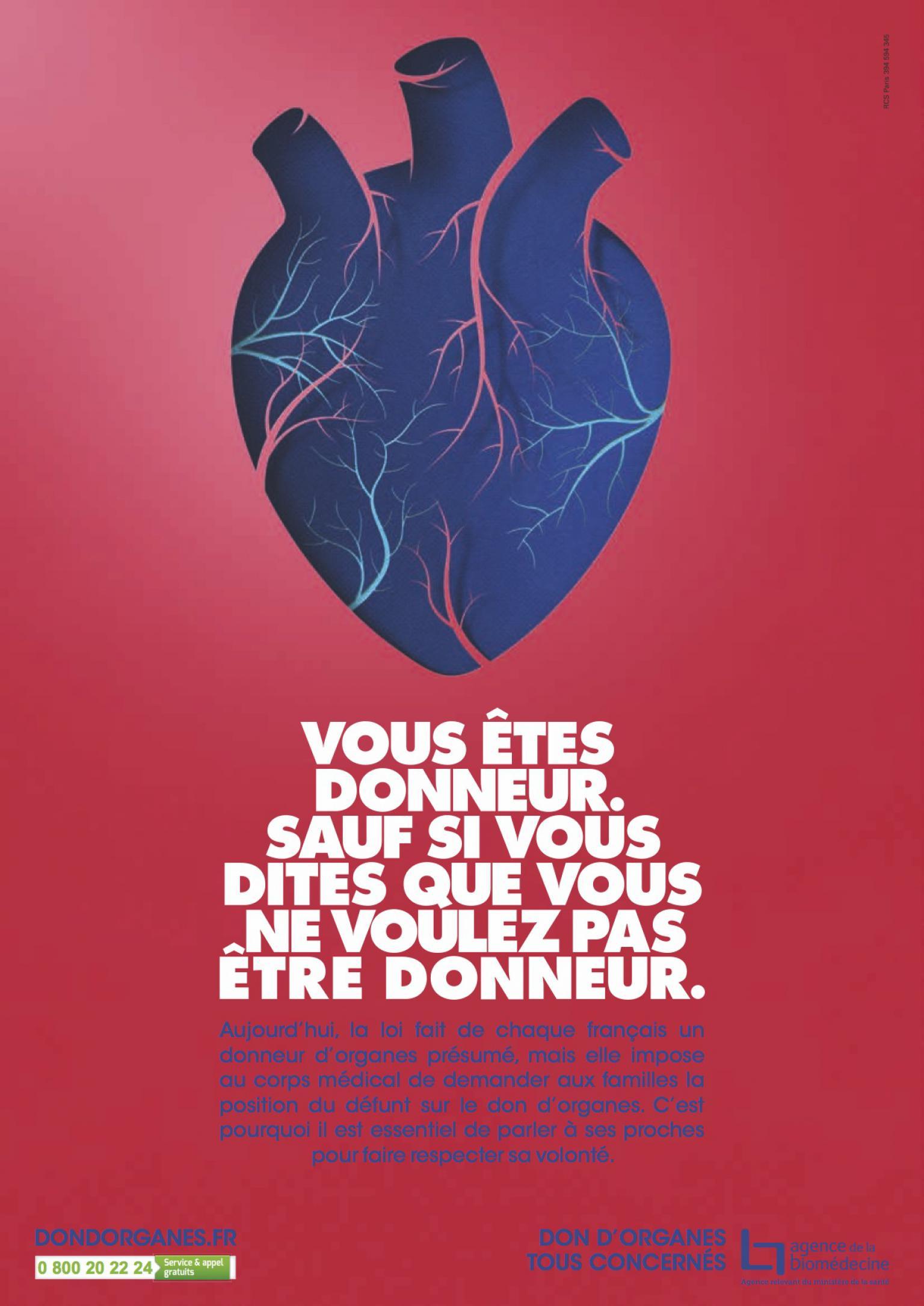Affiche 2016 - Don d'organes - Coeur
